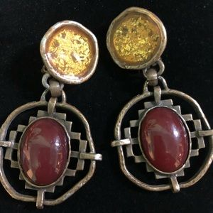 Vintage Robert Rose clip earrings